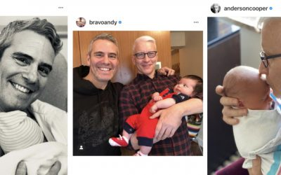 What do Anderson Cooper and Andy Cohen's sons already have in common?